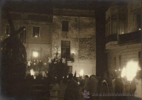 BADALONA 1951 FOTOGRAFIA GELATINA DE PLATA DE CARLOS NYSSEN. LEMA:RETINA.PLAZA CONSTITUCIÓN-SEMANA (Fotografía - Artística)