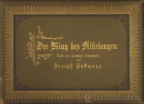 ALBUM FOTOGRAFICO (FOT. ANGERER). ESCENOGRAFIAS DE J. HOFFMANN 'DER RING DES NIBELUNGEN' WAGNER.1876 (Fotografía - Artística)