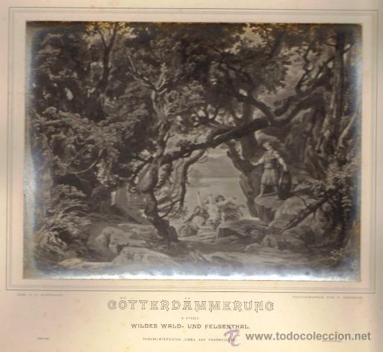 Fotografía antigua: ALBUM FOTOGRAFICO (FOT. ANGERER). ESCENOGRAFIAS DE J. HOFFMANN 'DER RING DES NIBELUNGEN' WAGNER.1876 - Foto 3 - 34269569