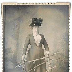 Fotografía antigua: 7438 - FOTOGRAFÍA ALSACIANA - ANTIGUO RETRATO DE 1901 - FOTO A. MARCENARO (BUENOS AIRES). Lote 34345874