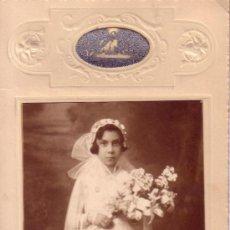 Fotografía antigua: FOTOGRAFIA ANTIGUA DE PRIMERA COMUNION - ADICIONAL FIRMA FOTOGRAFO - SEVILLA . Lote 34418531