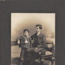 Fotografía antigua: RETRATO DE ESTUDIO, 1905, COPIA DE EXTRAORDINARIA CALIDAD, 16 X 11,5 CMS, CARTÓN EXTRA GRUESO - CLC. Lote 34495532