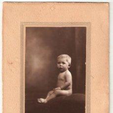 Fotografía antigua: RETRATO INFANTIL MORENTE PHOTO ART. ANTEQUERA. Lote 35404562
