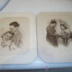 Fotografía antigua: PAREJA DE ENAMORADOS. DOS FOTOS. AÑOS 40. Lote 35449411