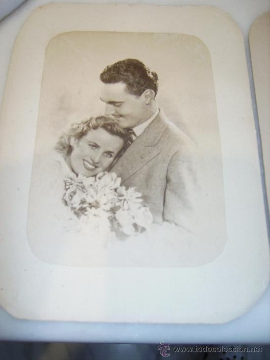 Fotografía antigua: Pareja de enamorados. Dos fotos. Años 40 - Foto 2 - 35449411