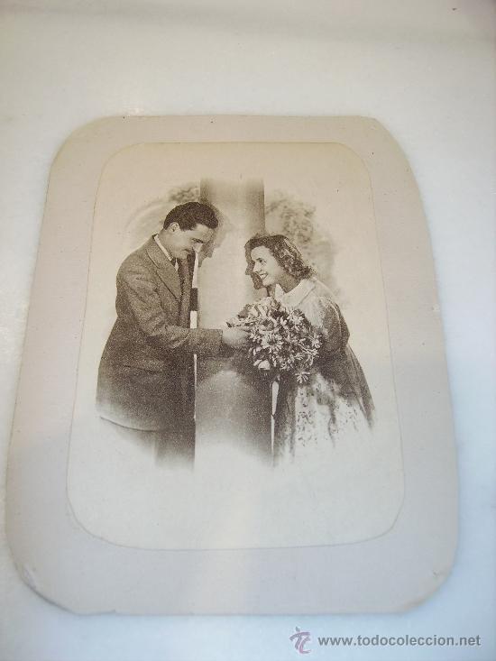 Fotografía antigua: Pareja de enamorados. Dos fotos. Años 40 - Foto 3 - 35449411