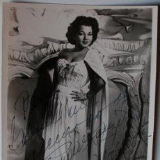 Fotografía antigua: FOTOGRAFIA DE LA CANTANTE MEXICANA ANA MARIA GONZALEZ. FIRMADA Y DEDICADA!!! 1950. Lote 35801899