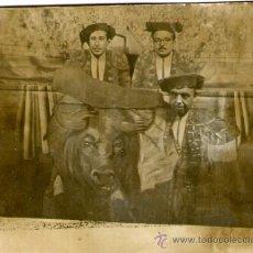 Fotografía antigua: FOTOGRAFIA DE TOREROS - POSIBLE CARNAVAL. Lote 35880920