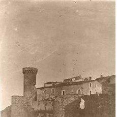 Fotografía antigua: FOTOGRAFIA.VISTA GENERAL MURALLA.TOSSA DE MAR-CATALUNYA (LA SELVA-GIRONA). CA. 1920. 13 X 18 CMS.. Lote 35953497