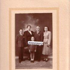 Fotografía antigua: FOTOGRAFIA FAMILIAR AÑO 1958 . Lote 36487856