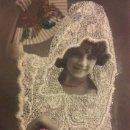 Fotografía antigua: RARA FOTOGRAFÍA BLANCO Y NEGRO COLOREADA Y BORDADA DE LA ACTRIZ ELOISA MURO. . Lote 36578258