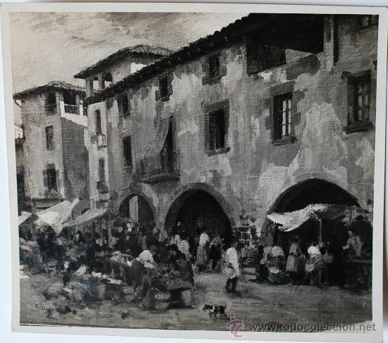 Fotografía antigua: FOTOGRAFÍA DE LA OBRA MERCADO DE TORELLÓ POR EL PINTOR DE CAMPREDO, FRANCESC LLOP MARQUES - Foto 1 - 36625493