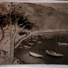 "Fotografía antigua: FOTOGRAFÍA DE LA OBRA ""PORT DE SÓLLER"" DEL PINTOR CATALAN, JOSEP MOMPOU . Lote 37175223"