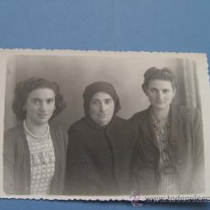 Fotografía antigua: FOTOGRAFÍA G. MAGADAN: 3 MUJERES -ASTURIAS (CANGAS DE NARCEA)- AÑOS 30. ¡ORIGINAL! ¡COLECCIONISTA!. Lote 37401676