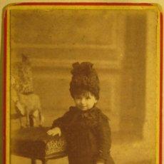 Fotografía antigua: FOTOGRAFIA NIÑA. AUDOUARD BARCELONA. C.V. FOTO 9,5 X 5,8 CM. Lote 37863326