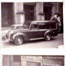 Fotografía antigua: 2 FOTOS ENTIERRO CON ATAUD Y COCHE FUNEBRE,BARCELONA,AÑOS 50,ESCENA CINE DE TERROR COMO DRACULA ¡¡. Lote 37885039