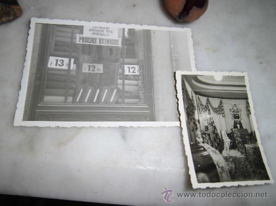 LOTE DOS FOTOS TIENDA TELAS ROPA FALLERA FALLAS ANTIGUA VALENCIA (Fotografía - Artística)