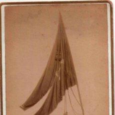 Fotografía antigua: FOTO BANDERA SANTO CRISTO DE IGUALADA AÑO 1900,GUERRA NAPOLEON,TAMBOR DE EL BRUC-SOMATEN-MONTSERRAT. Lote 38578650