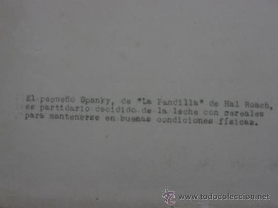 Fotografía antigua: fotografía MGM MG 29364X el pequeño Spanky de la pandilla de Hal Roach - Foto 3 - 38708364