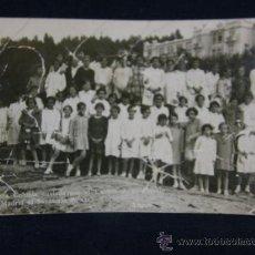 Fotografía antigua: FOTO NIÑAS PRIMERA COLONIA ENVIADA AYUNTAMIENTO MADRID AL SANATORIO OZA GALICIA CORUÑA 1927. Lote 38988445