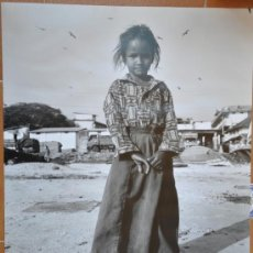 Fotografía antigua: FOTOGRAFIA ORIGINAL GITANA EN GRAN TAMAÑO POSIBLE DE BARCELONA SOMORROSTRO. Lote 39082037