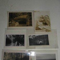 Fotografía antigua: LOTE DE 6 ANTIGUAS FOTOGRAFÍAS EN BLANCO Y NEGRO, PAISAJES Y RETRATOS.. Lote 39084892