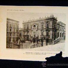 Photographie ancienne: MALAGA+PALACIO EPISCOPAL. FACHADA DE LA CATEDRAL+ANDALUCIA+305.... Lote 39109469