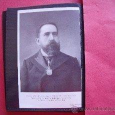 Fotografía antigua: ISIDRO DE SEGOVIA Y CORRALES.-DECANO DE LA FACULTAD MEDICINA DE SALAMANCA.-CATEDRATICO DE ANATOMIA.. Lote 101328192