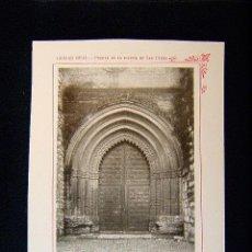 Fotografía antigua: CIUDAD REAL-PUERTA DE LA IGLESIA DE SAN PEDRO-TRES NAVES Y PUERTAS-CORO XVI-CASTILLA-LA MANCHA-540... Lote 39206765