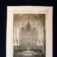 Fotografía antigua: CIUDAD REAL-INTERIOR DE LA CATEDRAL S.XVI-VIRGEN DEL PRADO-CASTILLA-LA MANCHA-543... Lote 39206947