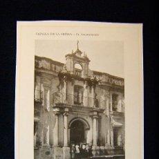 Fotografía antigua: CAZALLA DE LA SIERRA-EL AYUNTAMIENTO-3 CUERPOS FACHADA IMITA ESTILO CLASICO-SEVILLA-ANDALUCIA-557.... Lote 39208603