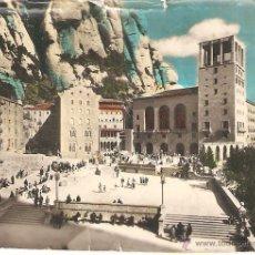 Fotografía antigua: ANTIGUA FOTOGRAFIA COLOREADA DEL MONASTERIO DE MONSERRAT, BARCELONA. 8.5 X 6 CM.. Lote 40135665
