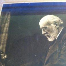 Fotografía antigua: SANTIAGO RAMÓN Y CAJAL. FOTOGRAFÍA ORIGINAL. FIRMADA, DEDICADA AL DOCTOR. E.NIEMEYER. PIEZA DE MUSEO. Lote 40170299