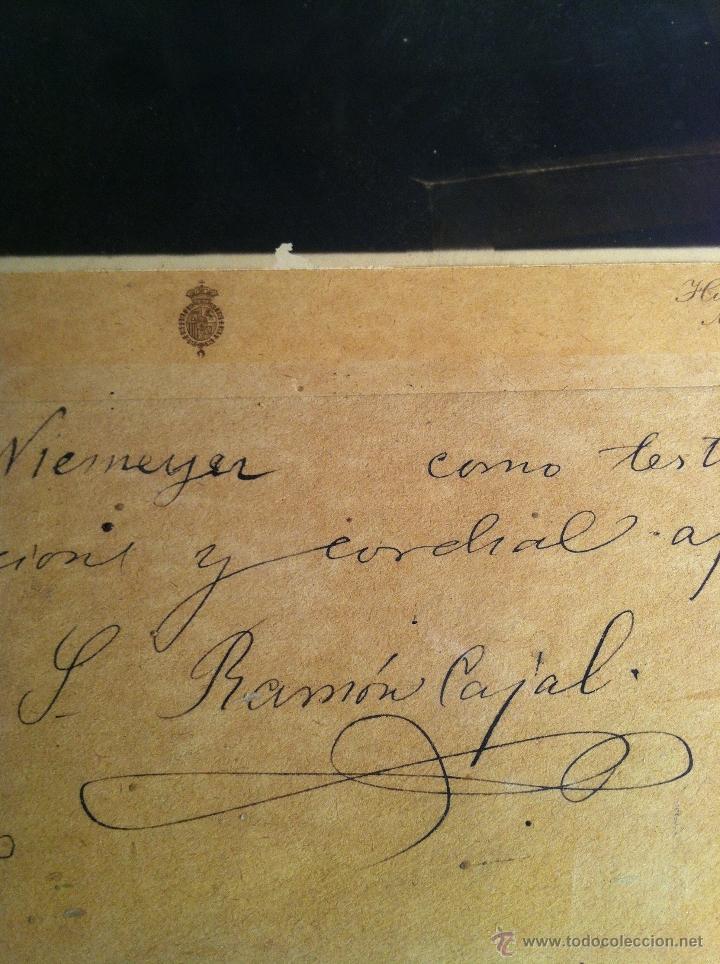 Fotografía antigua: Santiago Ramón y Cajal. Fotografía original. Firmada, dedicada al Doctor. E.Niemeyer. Pieza de museo - Foto 2 - 40170299