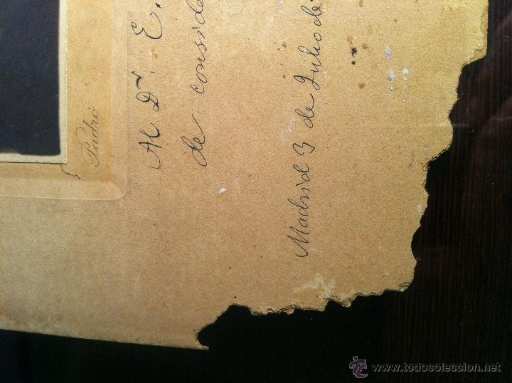 Fotografía antigua: Santiago Ramón y Cajal. Fotografía original. Firmada, dedicada al Doctor. E.Niemeyer. Pieza de museo - Foto 4 - 40170299
