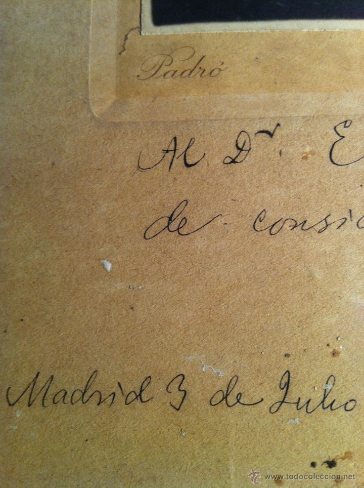 Fotografía antigua: Santiago Ramón y Cajal. Fotografía original. Firmada, dedicada al Doctor. E.Niemeyer. Pieza de museo - Foto 5 - 40170299