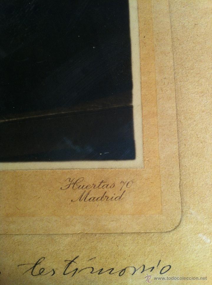 Fotografía antigua: Santiago Ramón y Cajal. Fotografía original. Firmada, dedicada al Doctor. E.Niemeyer. Pieza de museo - Foto 7 - 40170299