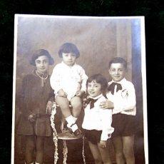 Fotografía antigua: SAN FERNANDO FAMILIA NUMEROSA. Lote 40292201