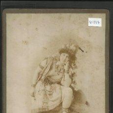 Fotografía antigua: GISELDA MOROSINI - OPERA - REVERSO MANUSCRITO - BARCELONA 1899- MED 12X19 CM- CARTON 13X21CM-(V-197). Lote 40430593