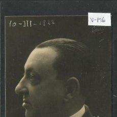 Fotografía antigua: RICARDO GÜELL - TAMAÑO Y REVERSO POSTAL ANTIGUA- AÑO 1922-FOTO AMADEO -(V-196). Lote 40430776