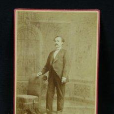 Fotografía antigua: FOTOGRAFÍA ALBUMINA CUBA CABALLERO CUBANO DE PIE FOTÓGRAFO C.D. FREDRICKS Y DARIES HABANA PARIS. Lote 40482328