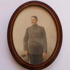 Fotografía antigua: RETRATO DEL MAJOR A. W. HOOPER AÑO 1910 IMPRESO POR EL PROCESO CHIARONI ENMARCADO. Lote 40541264