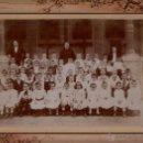 Fotografía antigua: . FOTOGRAFIA DE UN GRUPO DE ESCOLARES.. 25X18 CM. CA. 1910. Lote 40665157