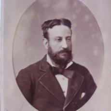 Fotografía antigua: FOTOGRAFÍA DE SEÑOR CON BARBA. IMPRESIÓN EN RELIEVE. FINALES DEL SIGLO XIX.. Lote 40731211