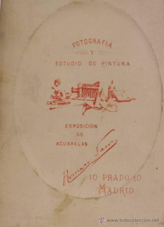 Fotografía antigua: Fotografía de señor con barba. Impresión en relieve. Finales del siglo XIX. - Foto 2 - 40731211