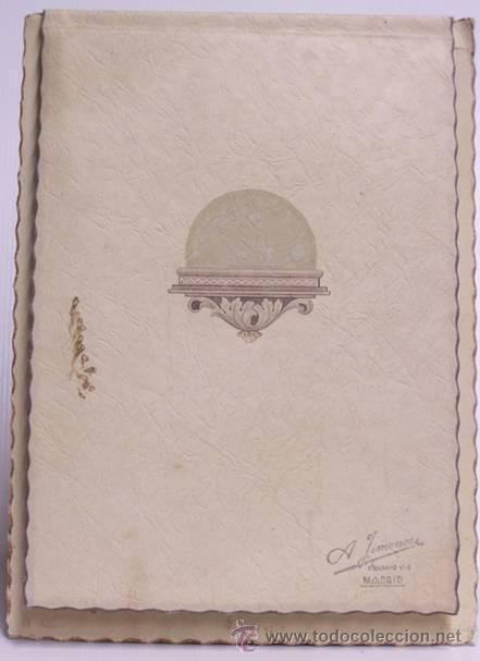Fotografía antigua: Fotografía de primera comunión, iluminada Con cubierta modernista. Principios siglo - Foto 2 - 40731297