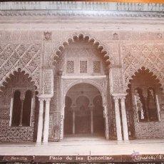 Fotografía antigua: PATIO DE LAS DONCELLAS. ALCAZAR DE SEVILLA. Lote 144632065