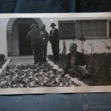 Fotografía antigua: FOTOGRAFÍA CACERÍA CAZADORES FAISANES CONEJOS PERDICES 14 X 9 CM MEDIADOS SIGLO XX. Lote 40903427