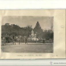 Fotografía antigua: MADRID.- LA CIBELES AÑO 1884- MEDIDAS 17 X 12 CMS. Lote 40986436