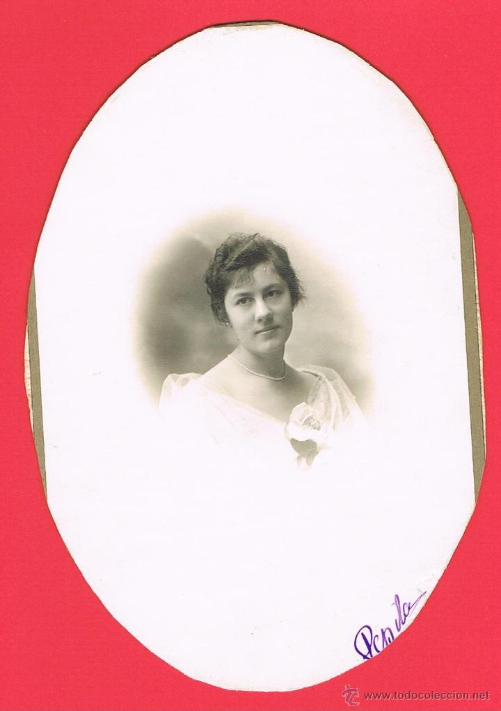 FOTOGRAFIA SEÑORITA DE LA BURGUESIA. MIDE 18 X 12 C.M. VER FOTO (Fotografía - Artística)